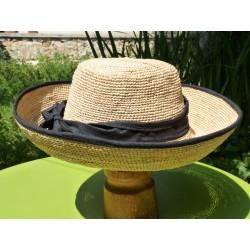 Sombrero raphia couleur paille